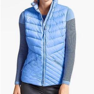 Talbots Light Blue Down Puffer Vest
